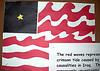 Modifizierte amerikanische Flagge