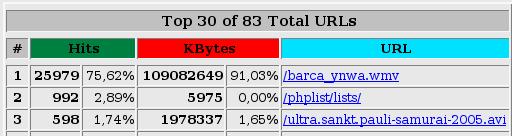 Wie ein File über 100 GB Traffic verursacht...