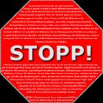Stoppschild für Politiker