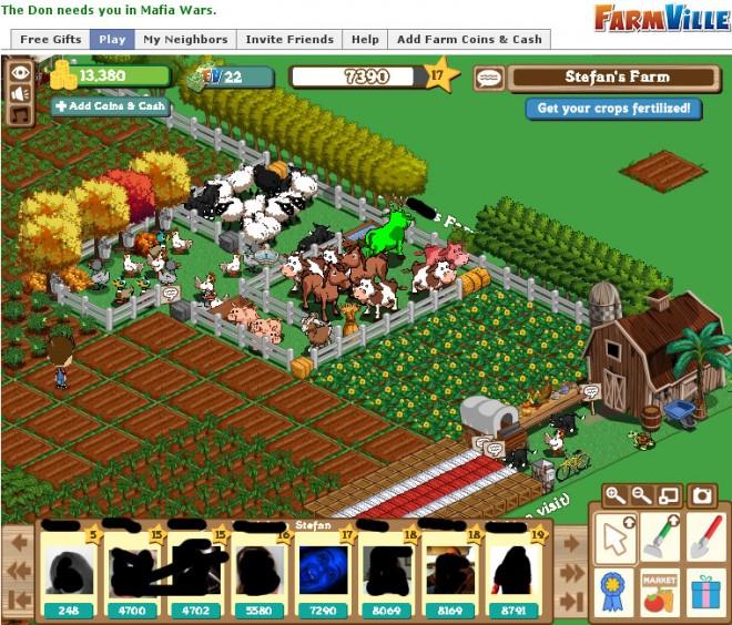 Farmville ist Braun-Weiß
