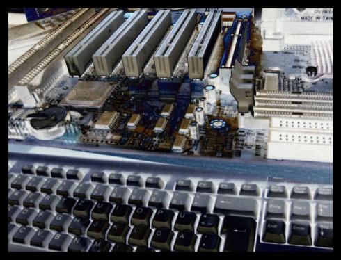 Mainboard und Tastatur, gimped